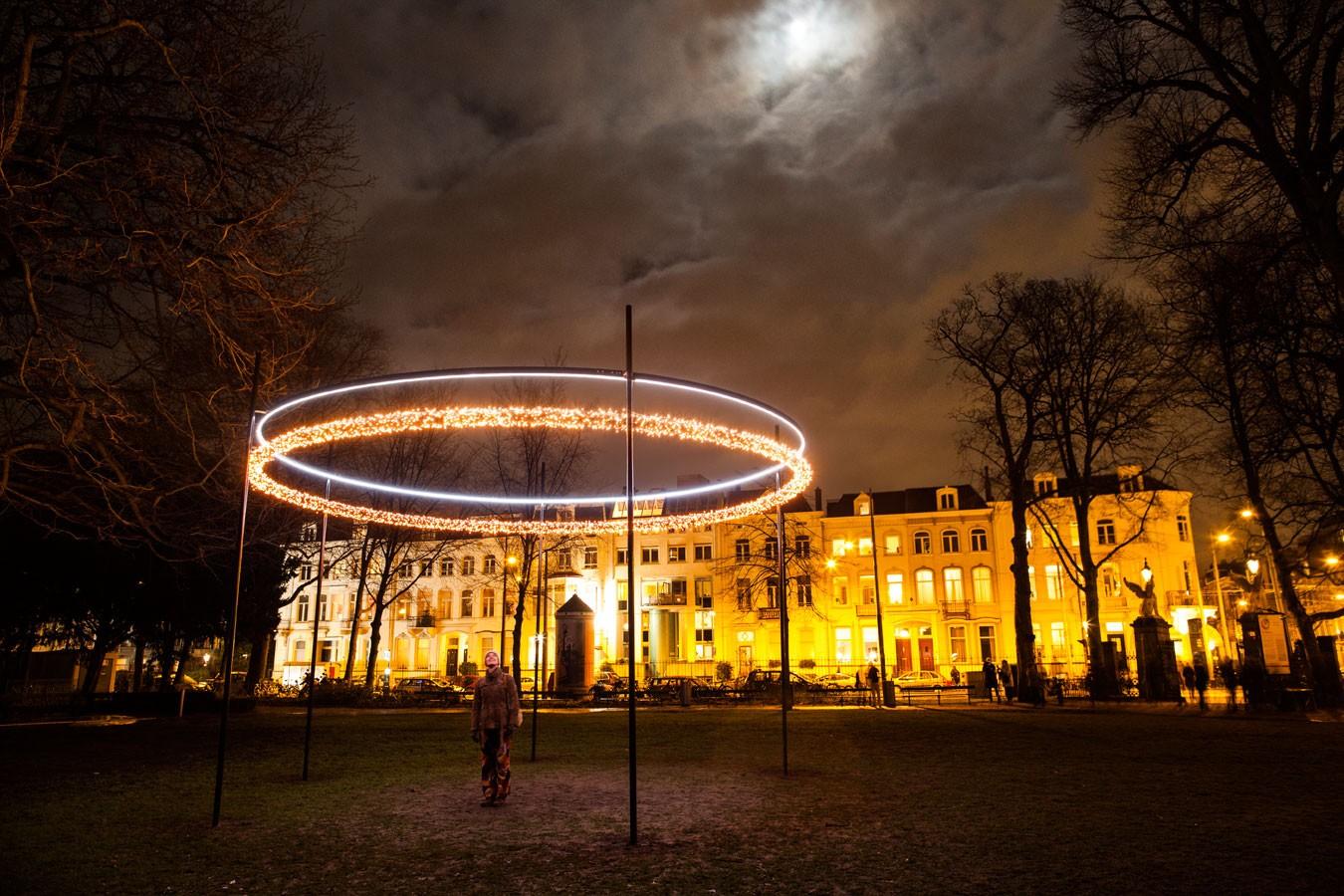 Object O  by Paul van Laak & Arnout Meijer Studio Amsterdam Light Festival 2015